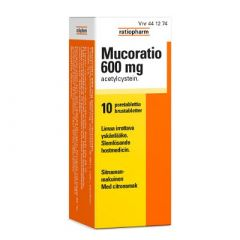 MUCORATIO 600 mg poretabl 10 kpl