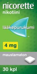 NICORETTE 4 mg lääkepurukumi 30 fol