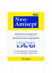 NEO-AMISEPT DESINFIOIVA PYYHE 10 KPL