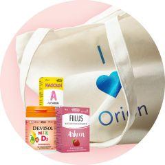 Orionin keräilykampanja tuotelahja Orionin tuotekassi